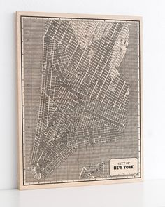 New York City Wood Print Map Vintage Home by DesignOutfitters