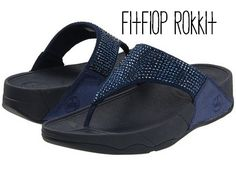 Fitflop Rokkit: Cushioned support, relieves foot pain with Microwobbleboard technology. APMA seal of acceptance