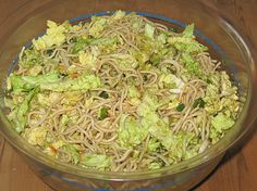 China - Salat, ein schönes Rezept aus der Kategorie Nudeln. Bewertungen: 9. Durchschnitt: Ø 4,1.