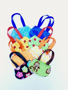Having a party?  These 8 Doll Purses for 18 Inch Dolls such as American Girl will be perfect party favors.  They also would be great stocking stuffers or do as a customer did and tuck a gift card inside for a really nice gift.  (Need more?  Send me a message and we will see what we can do.)  by DonnaDesigned