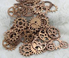 Lot de 100 engrenages steampunk couleur cuivre pour creations, colliers > JAPAN ATTITUDE - ACCPEN266   Shop : www.japanattitude.fr