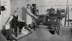 ECG being performed at the National Heart Hospital in Soho Square, 1910.