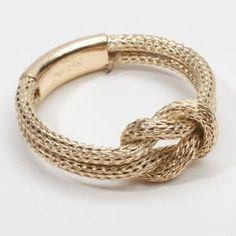 Gold Knot Bracelet by Nicole