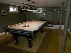 Love the paint color--Awesome Rooms From Man Caves:  From DIYNetwork.com from DIYnetwork.com