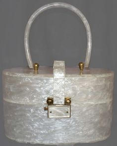 50s pearlized Lucite purse - I had one that had double handles