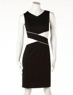 cleo - Black Crossover Waist Dress