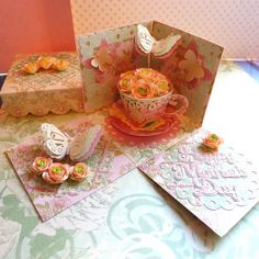 Cricut Mother's Day Exploding Card-Box.  Featured in May 2014 Cricut Magazine.