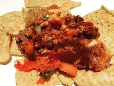 Last nights last minute #nachos #snack #no7hotsauce #chipotle #hotsauce by no7hotsauceto