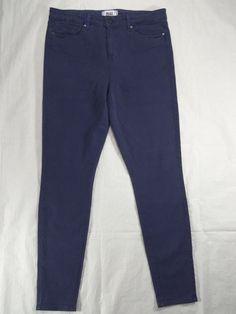 PAIGE DENIM blue NIGHT MIST high rise ultra skinny HOXTON women's jeans SIZE 24 #PAIGEDENIM #SlimSkinny