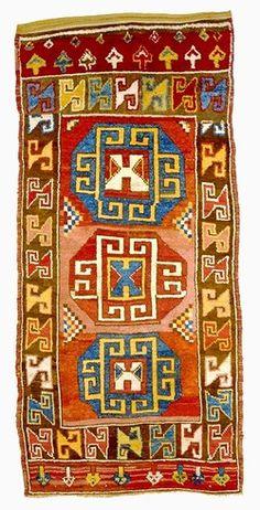 Antique Turkish Central Anatolian, Tribal (Yörük) Woolen Rug of Karapinar in Konya, ca. 1800-50.
