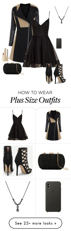 """""""Black Dress"""" by gone-girl on Polyvore featuring Le Lis Blanc, Stila, Axiology, Apple, Alex Perry and Givenchy"""