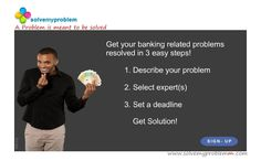 To get solution regarding banking related problem visit http://www.solvemyproblemm.com/ and submit your problem today