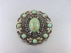 Old Vintage Ornate Silver Filigree and by TheOldJunkTrunk on Etsy