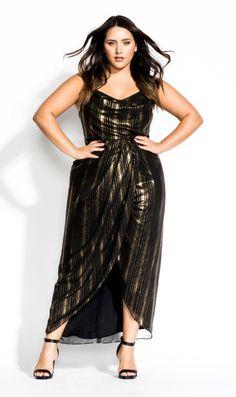 1c85e91b4a Glitter Lines Dress - Black. City ChicPlus Size ...