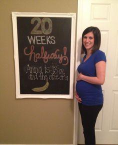 Pregnancy chalkboard  #halfway #20weeks #chalkboard