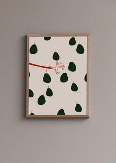 Taking a Fruit - Art print - Saulo – wallofartglobal Fruit Print, All Poster, Warm Colors, Unique Art, Storytelling, Take That, Graphic Design, Art Prints, Wall Art