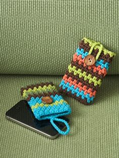 Mobile Phone Covers | Yarn | Free Knitting Patterns | Crochet Patterns | Yarnspirations