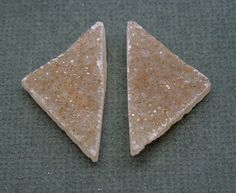 Light Pink Colored Druzy Triangle Pair RK1B134 by RockParadise, $18.95