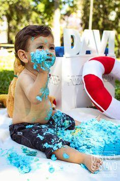 smash the cake, book infantil, ensaio infantil, família, bolo, bebê, 1 aninho, fotografia de criança, foto, Luis Gustavo Fotografia, urso marinheiro