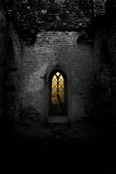 I could see the light from the broken window of the old rock church from my bedroom window, and I was sure that I wasn't the only one awake at 3:15 in the morning.