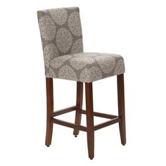 Add contemporary appeal to any space with this upholstered stool. Place it in the kitchen for a perch to enjoy a snack at the island, or pull it up to the home bar for a classic pub-worthy aesthetic.