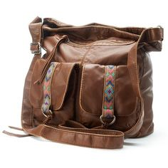 Mudd Nina Crossbody (Brown) ($30) ❤ liked on Polyvore featuring bags, handbags, shoulder bags, brown, imitation handbags, tassel handbag, imitation purses, mudd purse and brown cross body handbags