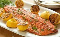 Salmon con limon y albacar.