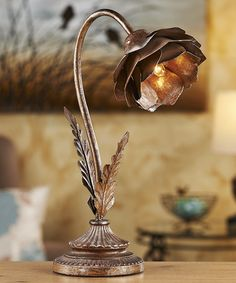 Another great find on #zulily! Bronze Flower Shade Table Lamp #zulilyfinds