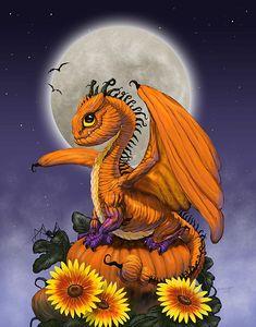 "Pumpkin Dragon~ Stanley Morrison aka ""SMorrisonArt"""