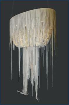 A leather chandelier! Can be custom-made to your requirements www.isabelina.co.za