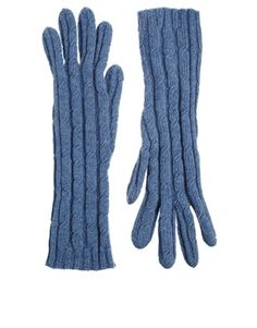 Johnstons+Cashmere+Cable+Gloves