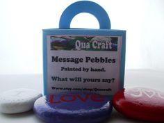 Mothers Day Message Pebbles. Hand Painted. by Quacraft on Etsy
