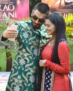 Ranveer Singh publicly displayed his affection for rumoured girlfriend Deepika Padukone while they were promoting their upcoming film Bajirao Mastani on the sets of TV show Swaragini . Going Down On Him, Helly Shah, Indian Drama, Ranveer Singh, Deepika Padukone, Latest Pics, Bollywood Fashion, Indian Girls, Beautiful Actresses