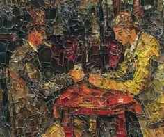 Vik Muniz: Los Jugadores de cartas, después de Cezanne
