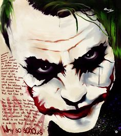 Joker - why so serious by dee Batman Joker Wallpaper, Joker Wallpapers, Deviantart Comic, Kings & Queens, Heath Ledger Joker, Joker Art, Joker Batman, Why So Serious, Poster Prints
