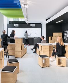 The Bene IDEA LAB provides space for creative brainstorming processes. In the last 2 years over 150 Creative Office Space, Office Space Design, Workplace Design, Office Interior Design, Office Interiors, Creative Hub, Retail Interior, Office Spaces, Small Office