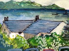 View from bedroom window, Lyme Regis by Mary Hartley