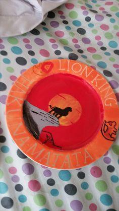 Color me mine ceramic painted plate Lion King
