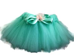 Tulle Tutu Baby Newborn 03 Months Mint by YoungSparkleandShine, $8.00