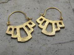 Efrat Deutsch - Gold hoop earrings
