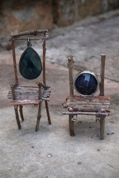 fairy furniture AND recycling horrific old costume jewelry