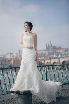 Suki & Steven's beautiful pre wedding portraits in Prague by American Photographer Kurt Vinion Prague Castle, Wedding Portraits, One Shoulder Wedding Dress, Wedding Photography, Weddings, American, Wedding Dresses, Beautiful, Fashion