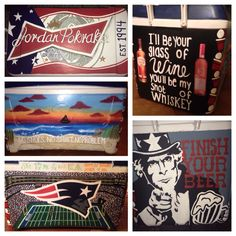 Fraternity Cooler - Uncle Sam Finish your Beer, Patriots, Glass of Wine and Shot of Whiskey, Budweiser name, and Beach Scene. Buy this item on Esty at: https://www.etsy.com/listing/228940534/custom-painted-cooler-for?ref=shop_home_feat_4