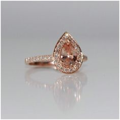 Champagne Rose Gold Teardrop.  This is my ring!