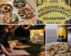 Adult Sleepover - Horror films in the garden, custom pizzas, spirit conversations for the daring and kahlua, milk and cookies.