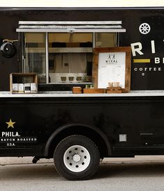 Rival Brothers Coffee truck. I am picturing all of the adults chasing the coffee truck down the street!
