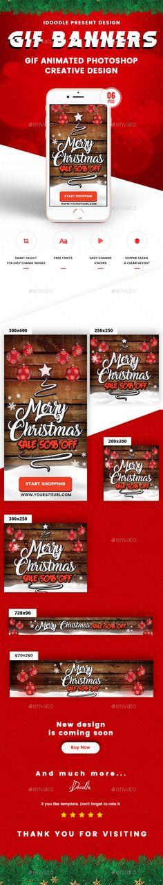 Animated GIF Merry #Christmas #Banner Ad
