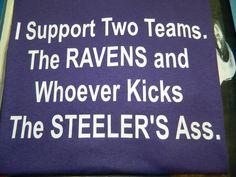 Baltimore Ravens T Shirt by tmaniaMD on Etsy, $20.00 @Alexis Lapre I think Brendan would like this shirt lol