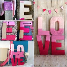 Pretty yarn letters for a girl's room! projects to try день Yarn Wrapped Letters, Yarn Letters, Diy Crafts Useful, Diy And Crafts Sewing, Valentine Decorations, Valentine Day Crafts, Crafts For Teens, Crafts For Kids, Valentine's Day Quotes