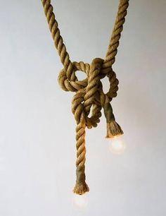 Hasil gambar untuk knotted rope light installation
